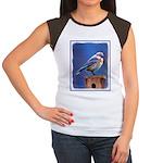 Bluebird (Female) Junior's Cap Sleeve T-Shirt