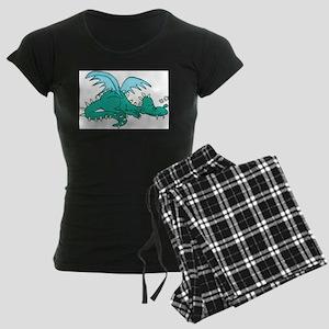 Baby Dragon Women's Dark Pajamas
