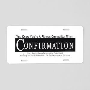Fitness Pro Aluminum License Plate