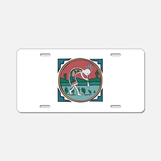 Colorful Kokopelli Aluminum License Plate