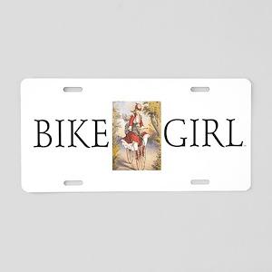 Top Bike Girl Aluminum License Plate