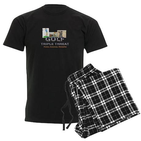 Golf Triple Threat Men's Dark Pajamas