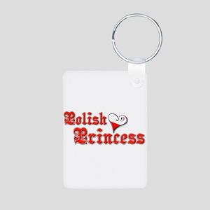 Polish Princess Aluminum Photo Keychain