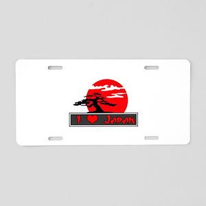 I Heart (Love) Japan Aluminum License Plate