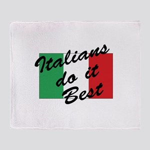 Italians Do It Best Throw Blanket