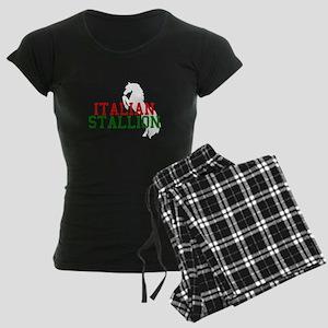 Italian Stallion Women's Dark Pajamas
