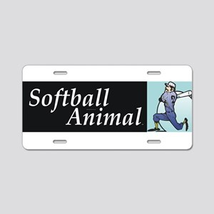 Softball Animal Aluminum License Plate