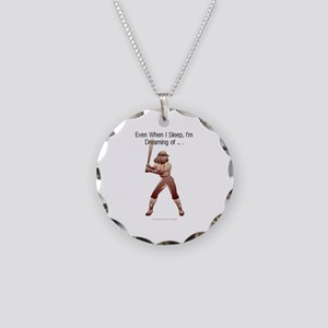 TOP Softball Dreams Necklace Circle Charm