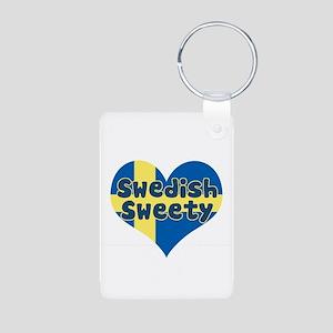 Swedish Sweety Aluminum Photo Keychain