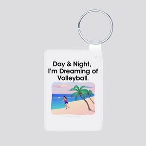 Dreaming of Volleyball Aluminum Photo Keychain