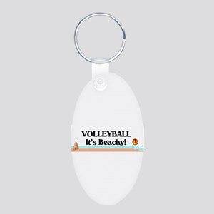 TOP Volleyball Beachy Aluminum Oval Keychain