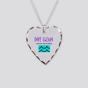 Dive Clean Necklace Heart Charm