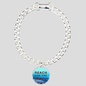 Swim Slogan Charm Bracelet, One Charm