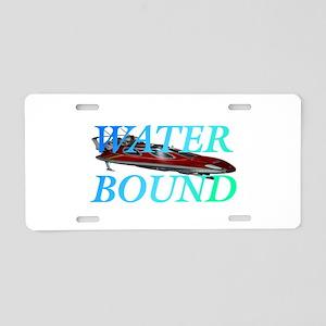 Water Bound Aluminum License Plate