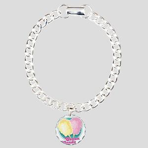 Cotton Candy Charm Bracelet, One Charm