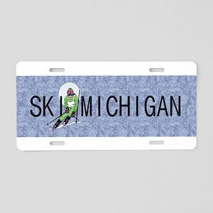 TOP Ski Michigan Aluminum License Plate