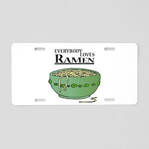 Everybody Loves Ramen (noodle Aluminum License Pla