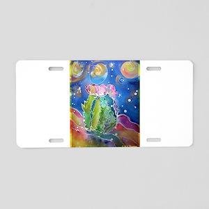 Cactus, colorful, Aluminum License Plate
