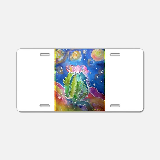 Cactus, colorful, Aluminum License Plate