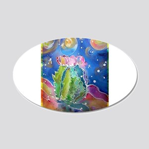 Cactus, colorful, 22x14 Oval Wall Peel