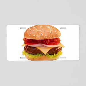 yummy cheeseburger photo Aluminum License Plate