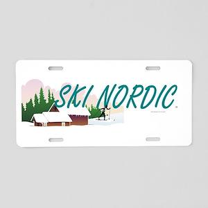 Ski Nordic Aluminum License Plate