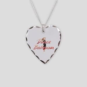 Dance Ballroom Necklace Heart Charm