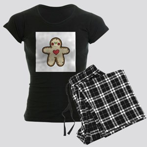 Ginger Bread Cookie with Hear Women's Dark Pajamas