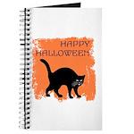 Halloween Black Cat Journal