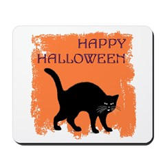 Halloween Black Cat Mousepad