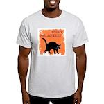 Halloween Black Cat Ash Grey T-Shirt