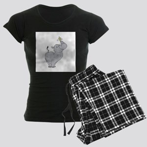 Rhino with Dreidel Women's Dark Pajamas
