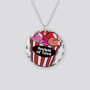 Funny Bucket of Love Design Necklace Circle Charm