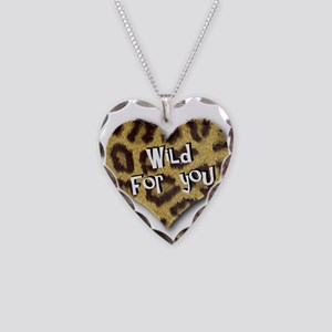 Wild For You Leopard Heart Necklace Heart Charm
