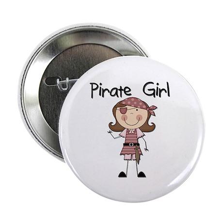"Pirate Girl 2.25"" Button"