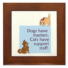 Dogs vs. Cats Framed Tile