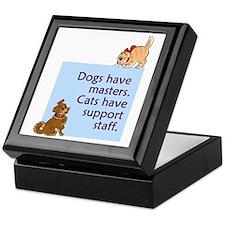 Dogs vs. Cats Keepsake Box
