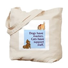 Dogs vs. Cats Tote Bag