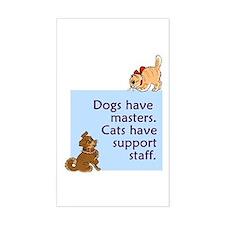 Dogs vs. Cats Rectangle Sticker