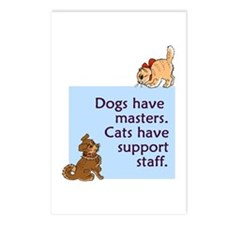 Dogs vs. Cats Postcards (Package of 8)