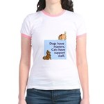 Dogs vs. Cats Jr. Ringer T-Shirt