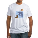 Dogs vs. Cats Fitted T-Shirt