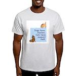 Dogs vs. Cats Ash Grey T-Shirt