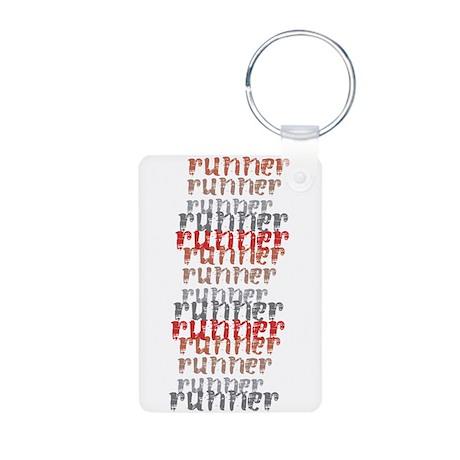 Runner Aluminum Photo Keychain
