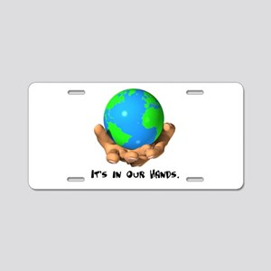 Earth In Our Hands Aluminum License Plate