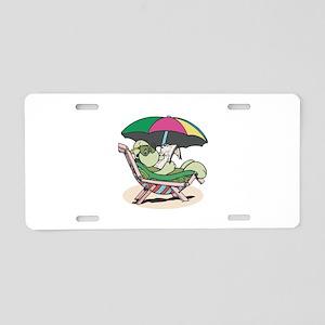 Suntanning Turle Aluminum License Plate