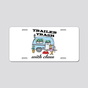 Trailer Trash with Class Aluminum License Plate