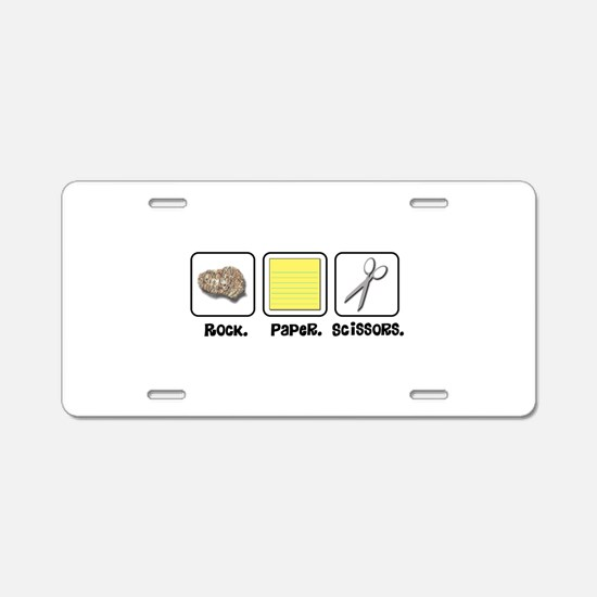 Rock Paper Scissors Aluminum License Plate