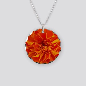 Marigolds Necklace Circle Charm