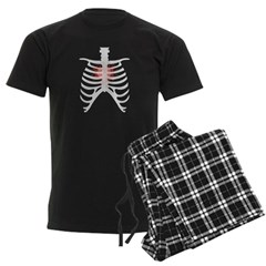 Emo Goth Heart Throb Rib Cage Vector Art Pajamas